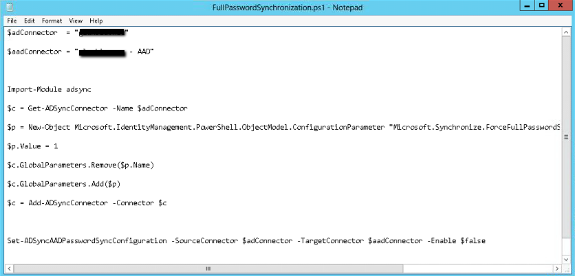 Azure AD Connect – PowerShell Script to trigger a full