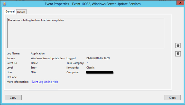 WSUS – The file for this update failed to download | Shane