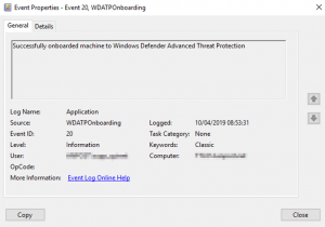 Troubleshooting Windows Defender Advanced Threat Protection (WDATP